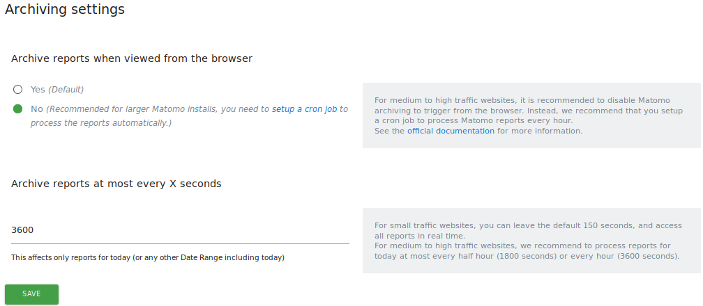 How to Set up Auto-Archiving of Your Reports User Guide
