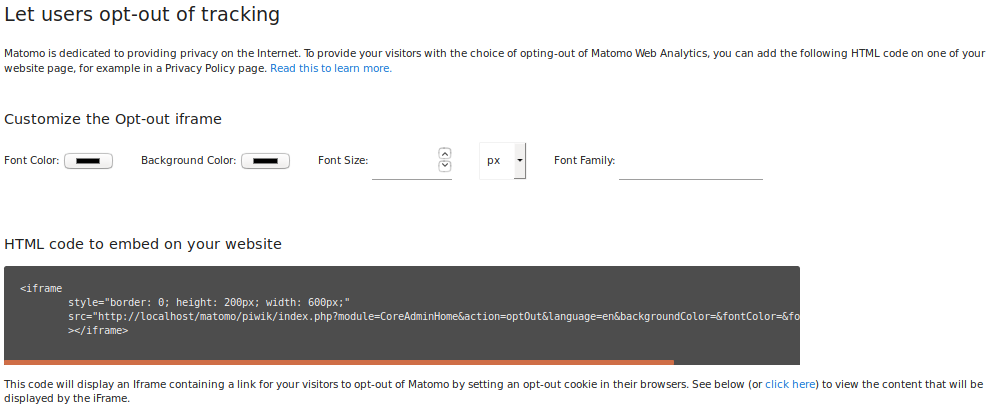 Configure Privacy Settings in Matomo User Guide - Analytics Platform