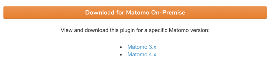 What it looks like when your plugin is compatible with multiple Matomo versions